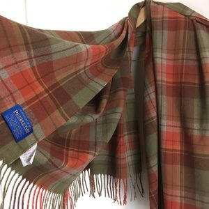 Pendleton Plaid Tassel Blanket Throw Shawl